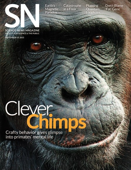 Science News Cover - 9/19/2015