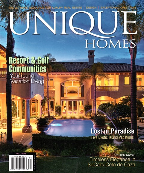 Unique Homes Cover - 9/1/2015