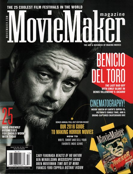 Moviemaker Magazine Cover - 9/1/2015