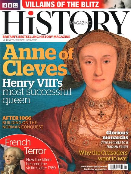 BBC History Cover - 9/1/2015