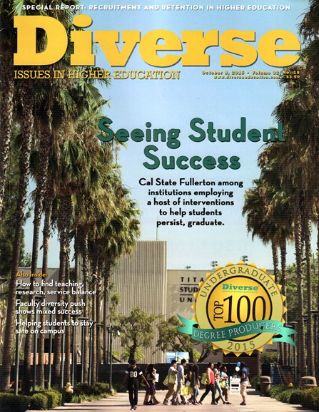 Diverse: Issues In Higher Education Cover - 10/8/2015