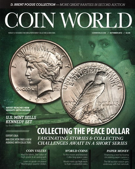 Coin World Weekly Cover - 10/1/2015