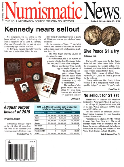 Numismatic News Cover - 10/6/2015