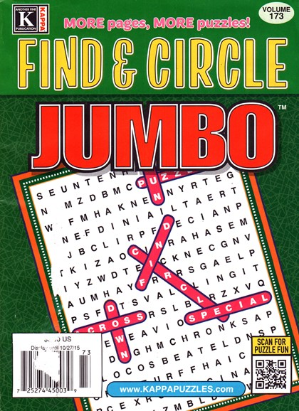 Find & Circle Jumbo Cover - 11/1/2015