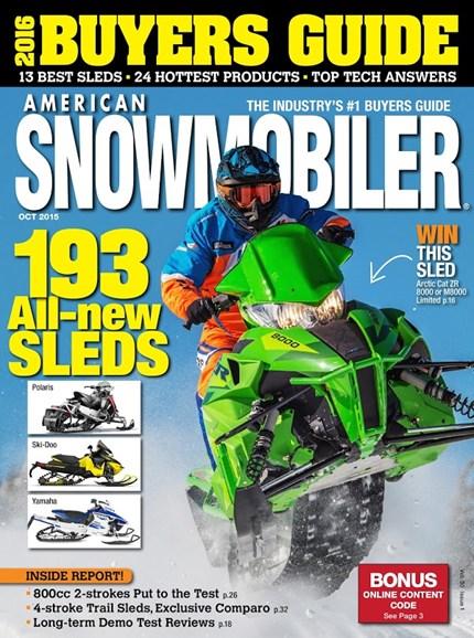 American Snowmobiler Cover - 10/1/2015