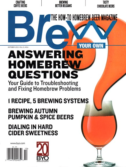 Brew Your Own Cover - 10/1/2015