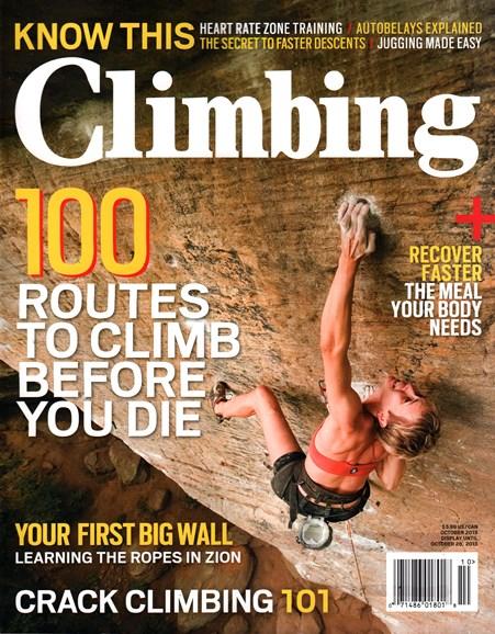 Climbing Magazine Cover - 10/1/2015