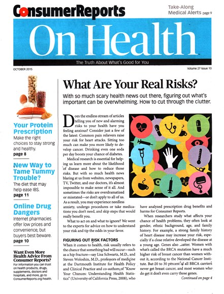 Consumer Reports On Health Cover - 10/1/2015
