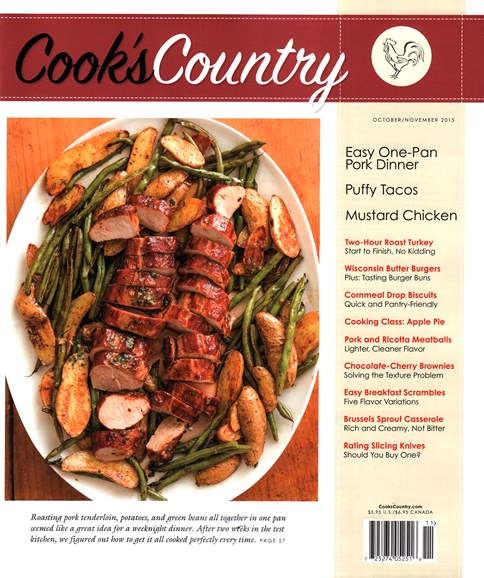Cook's Country Cover - 10/1/2015
