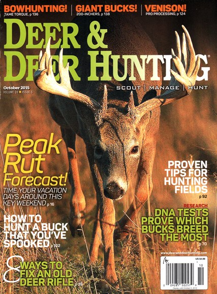 Deer & Deer Hunting Cover - 10/1/2015