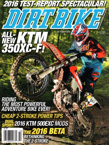 Dirt Bike Cover - 10/1/2015