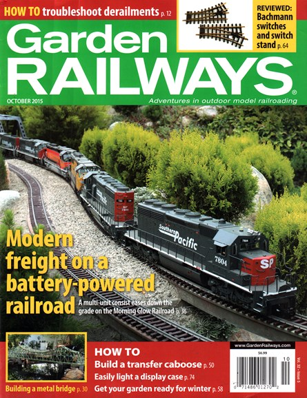 Garden Railways Cover - 10/1/2015