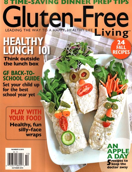 Gluten-Free Living Cover - 10/1/2015