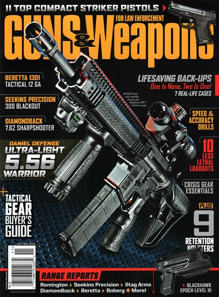 Guns & Weapons For Law Enforcement Cover - 10/1/2015