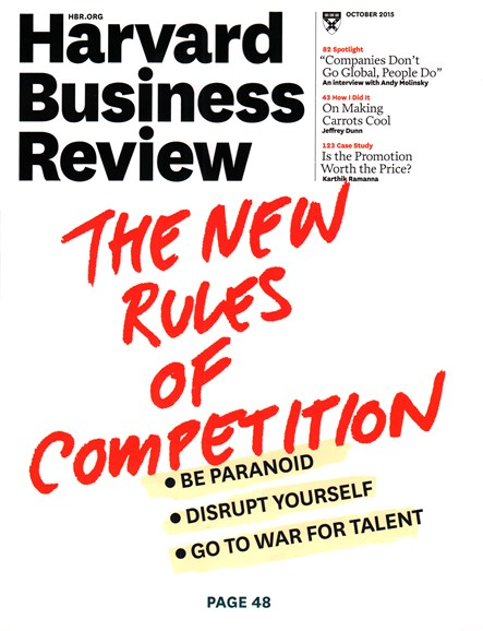 Harvard Business Review Cover - 10/1/2015