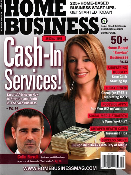 Home Business Magazine Cover - 10/1/2015