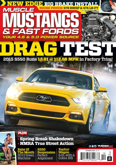 Muscle Mustangs & Fast Fords Cover - 10/1/2015