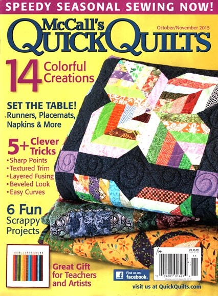 McCall's Quick Quilts Cover - 10/1/2015