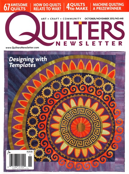 Quilter's Newsletter Cover - 10/1/2015