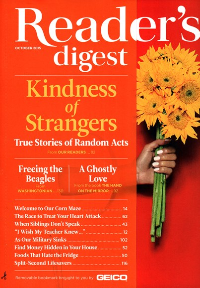 Reader's Digest Cover - 10/1/2015