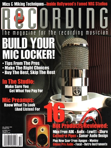 Recording Magazine Cover - 10/1/2015