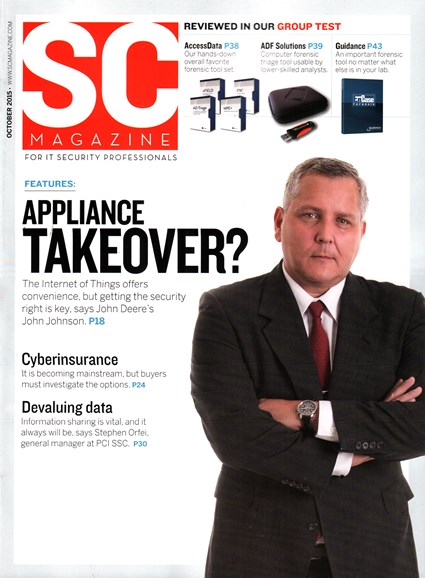 SC Magazine - U.S. edition Cover - 10/1/2015