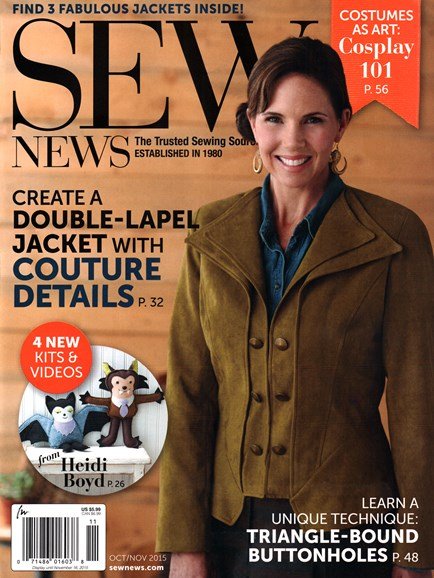 Sew News Cover - 10/1/2015