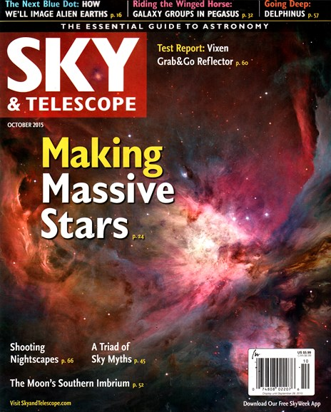 Sky & Telescope Cover - 10/1/2015