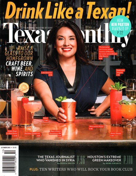 Texas Monthly Cover - 10/1/2015