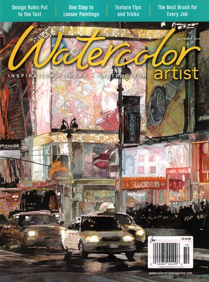 Watercolor Artist Cover - 10/1/2015