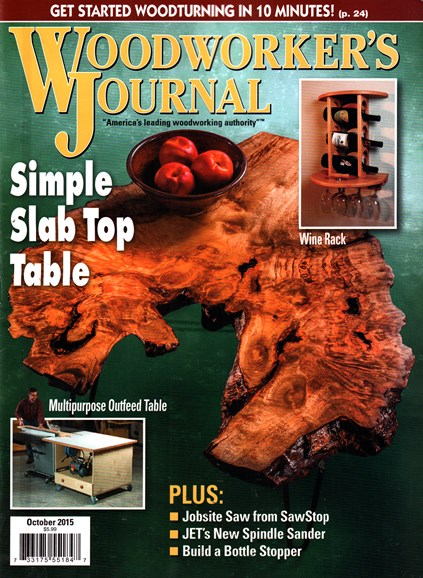 Woodworker's Journal Cover - 10/1/2015