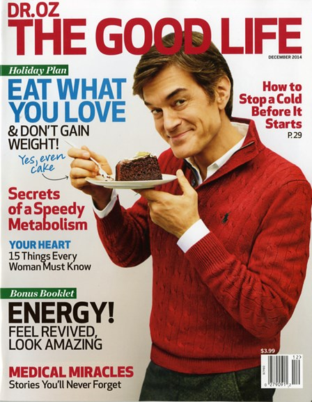 Dr. Oz The Good Life Cover - 12/1/2014