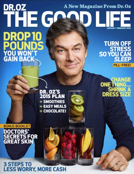 Dr. Oz The Good Life Cover - 1/1/2015