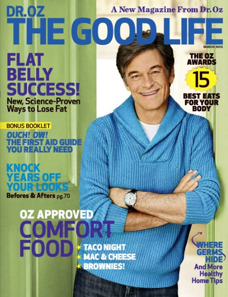 Dr. Oz The Good Life Cover - 3/1/2015