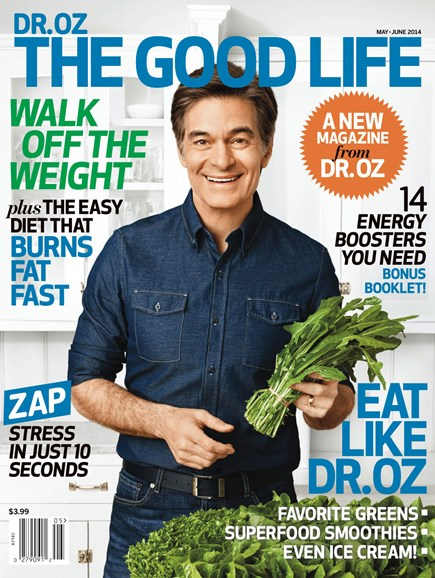 Dr. Oz The Good Life Cover - 5/1/2014