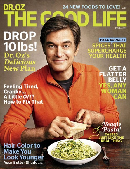 Dr. Oz The Good Life Cover - 10/1/2015