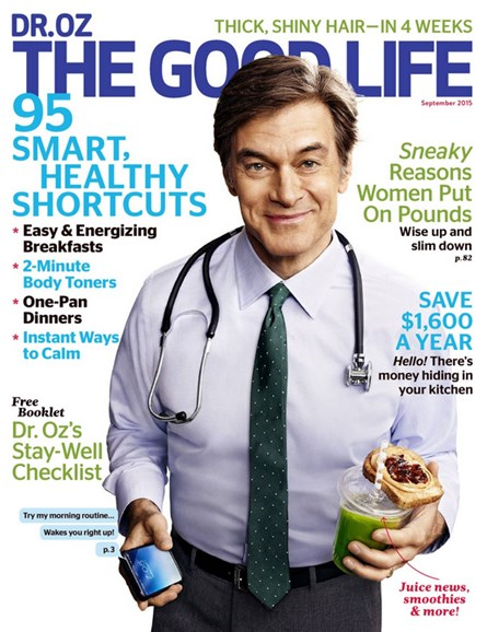 Dr. Oz The Good Life Cover - 9/1/2015