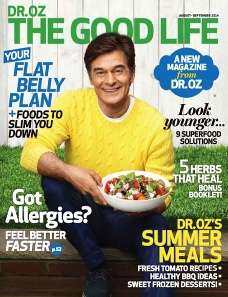 Dr. Oz The Good Life Cover - 8/1/2014