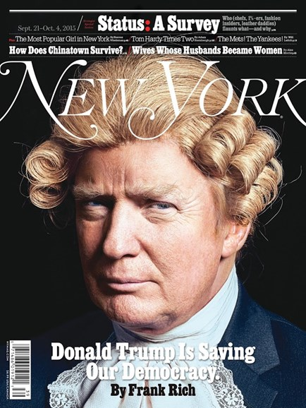 New York Magazine Cover - 9/21/2015