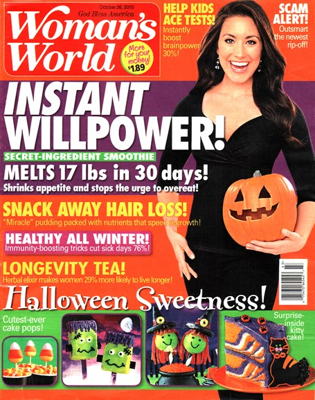 Woman's World Cover - 10/26/2015
