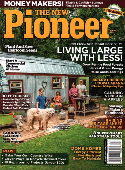 The New Pioneer Cover - 1/1/2016