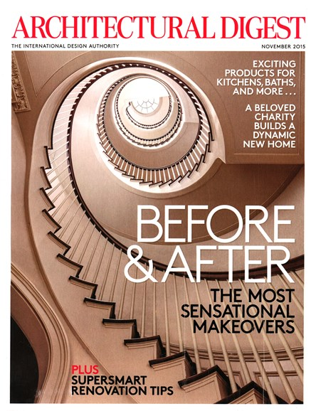 Architectural Digest Cover - 11/1/2015