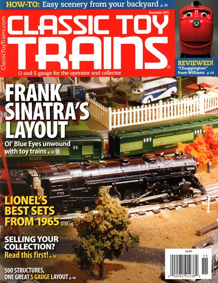 Classic Toy Trains Cover - 11/1/2015