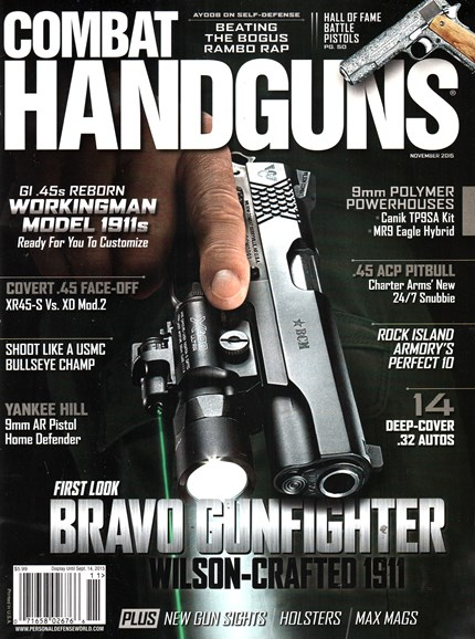 Combat Handguns Cover - 11/1/2015