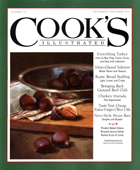 Cook's Illustrated Cover - 11/1/2015