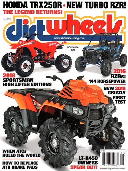 Dirt Wheels Cover - 11/1/2015