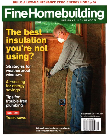 Fine Homebuilding Cover - 11/1/2015
