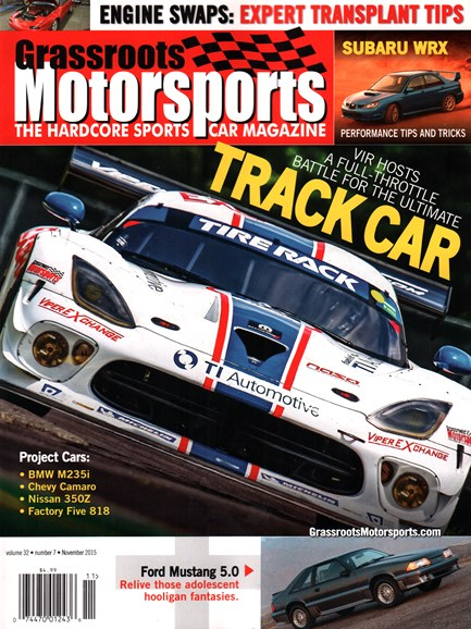 Grassroots Motorsports Cover - 11/1/2015