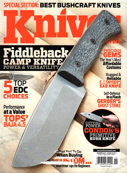 Knives Illustrated Cover - 11/1/2015