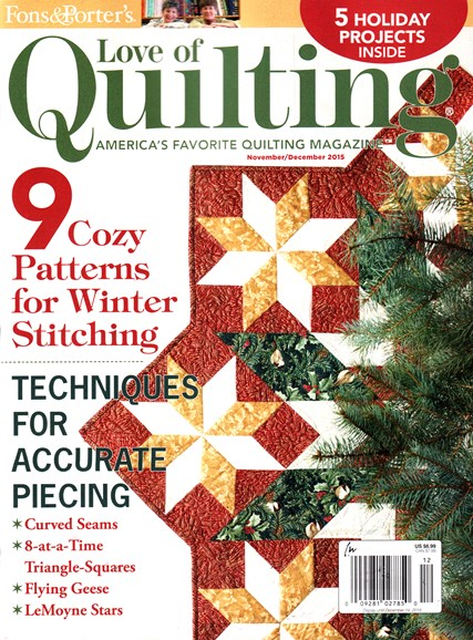 Fons & Porter's Love of Quilting Cover - 11/1/2015